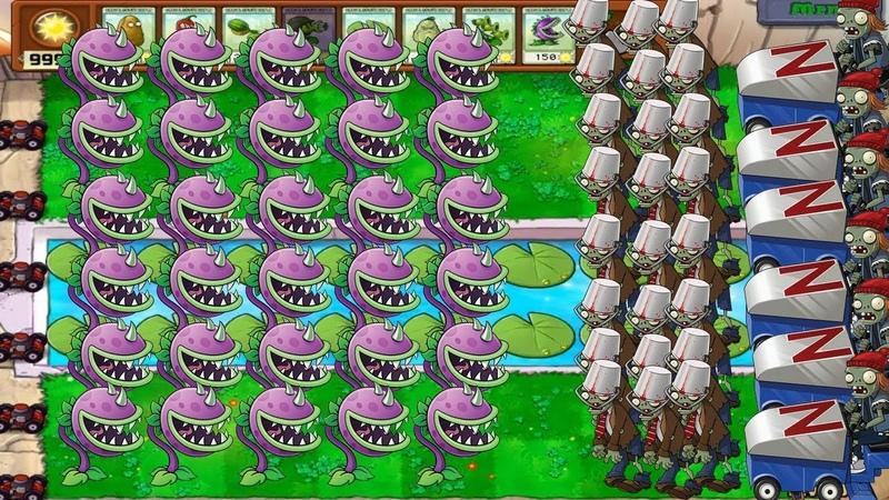 Plants Vs Zombies Hack mod - 999 Chomper vs Zomboni and All Zombies