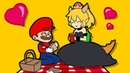 BOWSETTE VS MARIO LUiGI WARIO (Official series) Booette Animation Horror Game