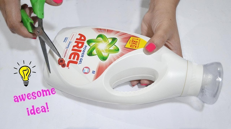 Best Reuse Idea With Detergent Bottle How To Recycle Detergent Bottle