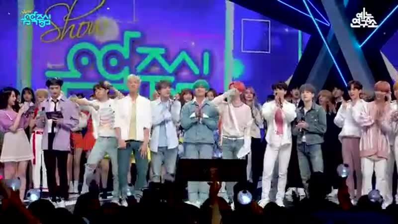 [예능연구소 직캠] BTS - Boy With Luv, 방탄소년단 - 작은 것들을 위한 시 No.1 encore ver. @Show! Music Core 20190420
