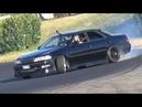 Best of 1JZ-GTE Toyota Mark II JZX100 Drifting on Track! - AMAZING Manji LOUD Sound!