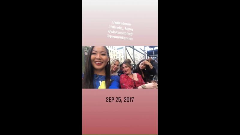 Shay Mitchell on Kathryn Gallagher's Instagram Story (22 сентября 2018)