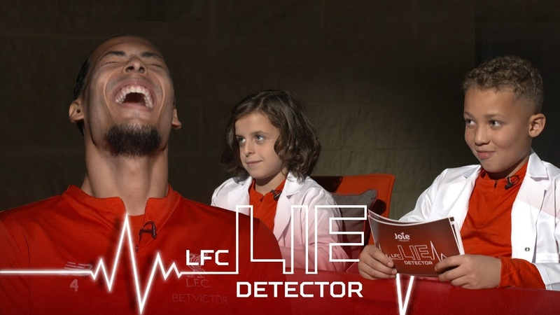 Van Dijk takes Lie Detector Test | Ever picked your nose and eaten it | Kop Kids
