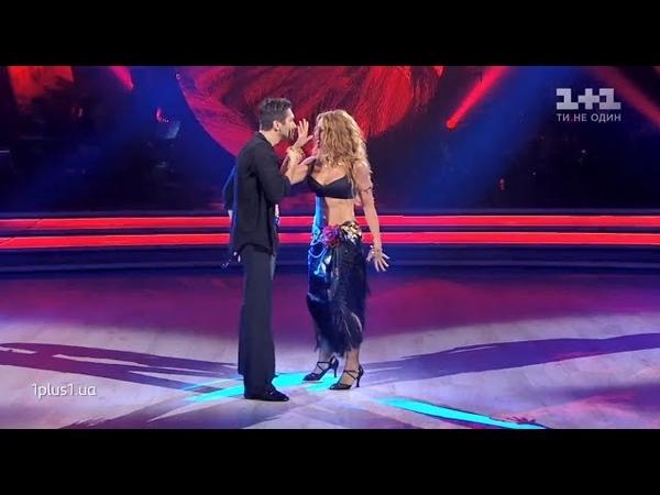 Запальний фюжн у виконанні Оксани Марченко та Дмитра Чапліна в шоу Танці з зірками