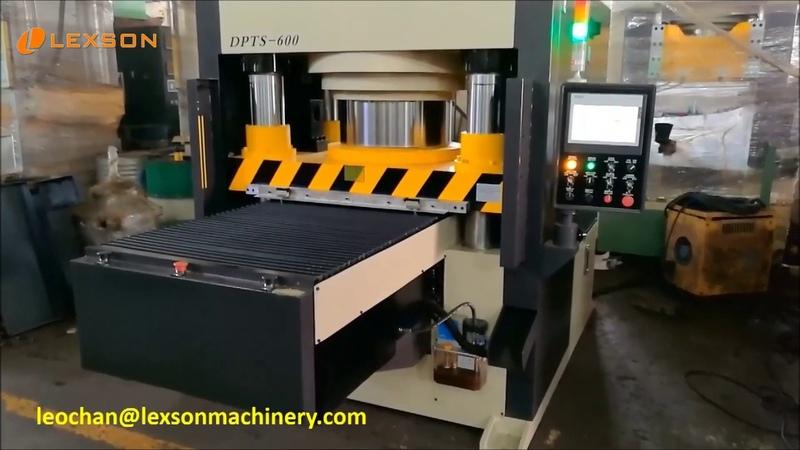 Down-acting 4-Post 600 Ton Jigsaw Puzzle Machine, 600 Ton Servo Hydraulic Press Automatic Feeding