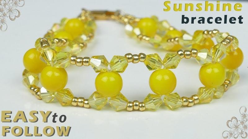 DIY Bracelet Super Easy Pattern, pulsera, браслет из бисера и бусин