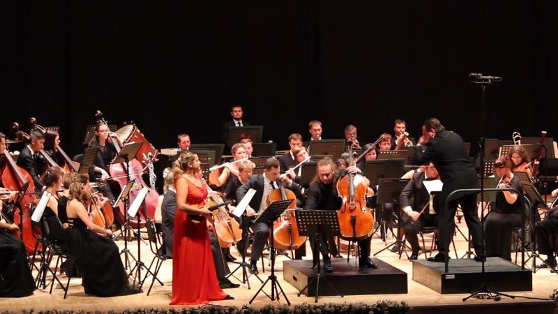 Фрагмент (2) двойного концерта И. Брамса. Солисты Мария Солозобова (скрипка), Денис Шаповалов (виолончель) и РГСО