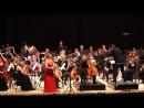 Фрагмент 2 двойного концерта И. Брамса. Солисты Мария Солозобова скрипка, Денис Шаповалов виолончель и РГСО