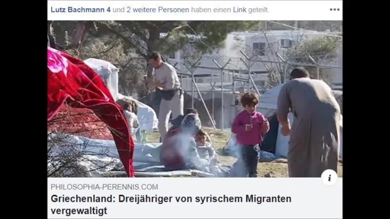 MIGRATION..Griechenland..Dreijähriger von syrischem Migranten vergewaltigt..