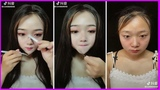 Before and after jaw dropping photos of women with and without a full face of makeup