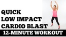 12-минутная низкоударная кардио тренировка - Быстрая, тихая тренировка без прыжков и снаряжения. 12-Minute Low Impact Cardio Blast - Quick, Quiet, No Equipment, Small Space No Jumping Exercise