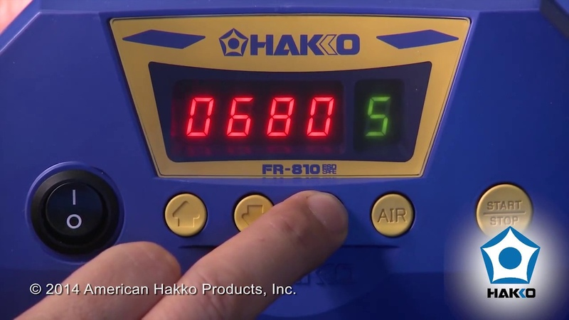 Hakko FR-810 Digital SMD Hot Air Rework Station — Video by American Hakko