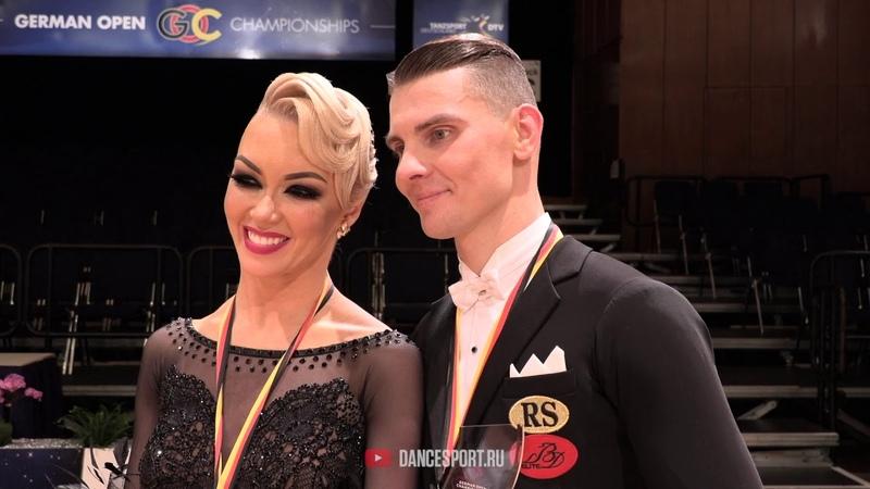 Dmitry Zharkov - Olga Kulikova RUS, Interview, German Open Championships 2019