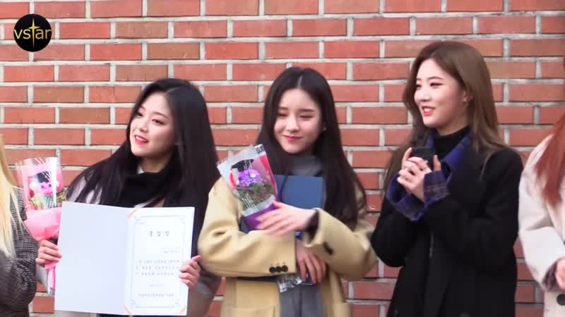 190107 LOONA @ «Hansung Girls' High School Graduation Ceremony»