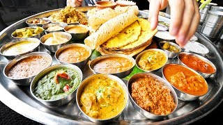 Enter CURRY HEAVEN - Mumbai's BIGGEST Thali (38 Items) BEST Indian Street Food in Mumbai, India!