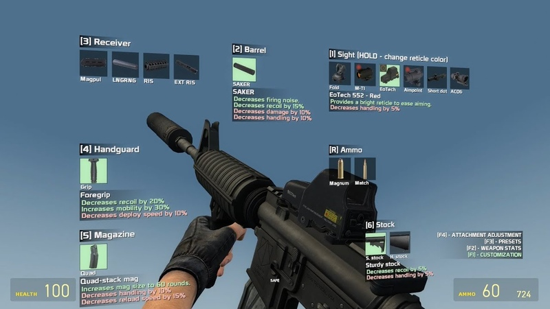 Customizable Weapons 2.0 - All Guns And Attachments Shown