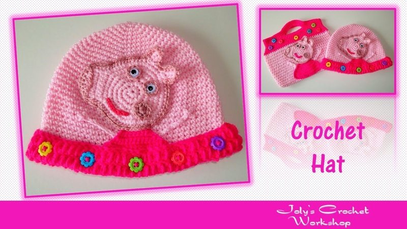 Peppa pig crochet hat - Part 1