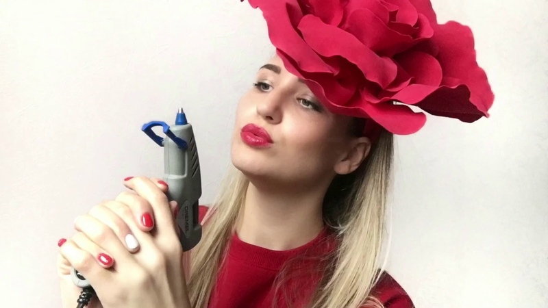 РОЗА-ШЛЯПКА ИЗ ФОАМИРАНА Роза на стену.\Rose cap