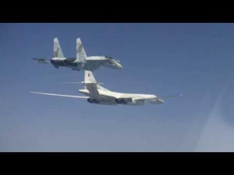 Истребители Су-27СМ сопроводили стратегические ракетоносцы Ту-160 над Черным морем