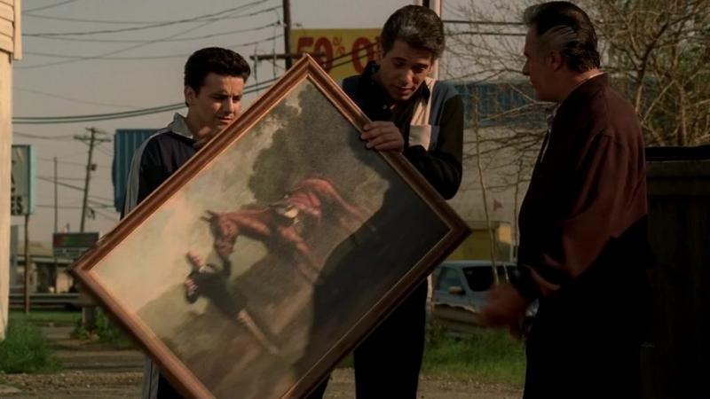 (Клан Сопрано S04E10_02) Тони, лошадь и картина