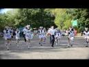 Танец выпускников и классного руководителя на 1 сентября