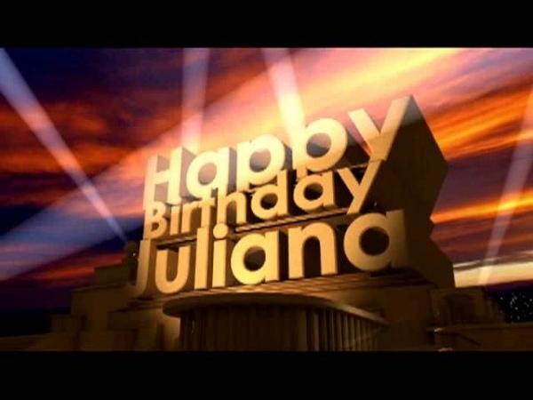 Happy Birthday Juliana