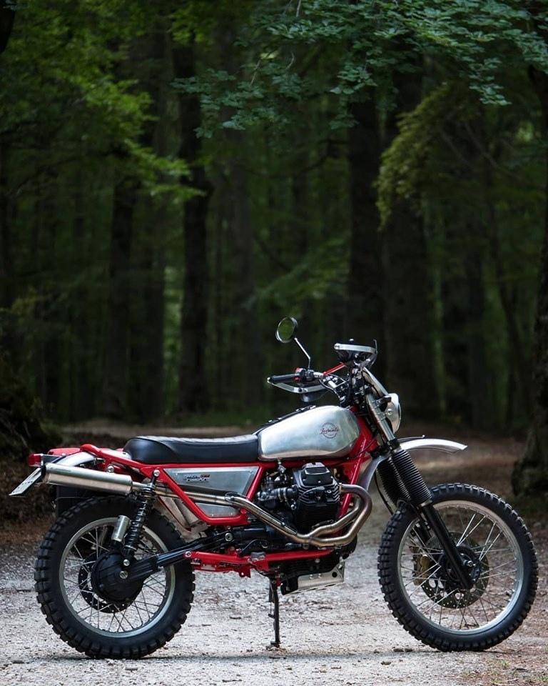 Officine Rossopuro: скрэмблер Moto Guzzo Levante 750