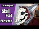 The Making Of A Skull Head 2 Furring Details - Skull Demon Fursuit Tutorial