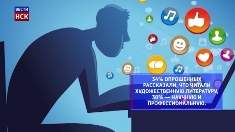 Россияне предпочитают новости в соцсетях чтению книг