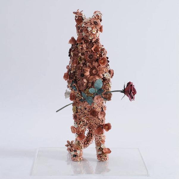 """""""Цветущие"""" металлические скульптуры животных от японского кузнеца"""