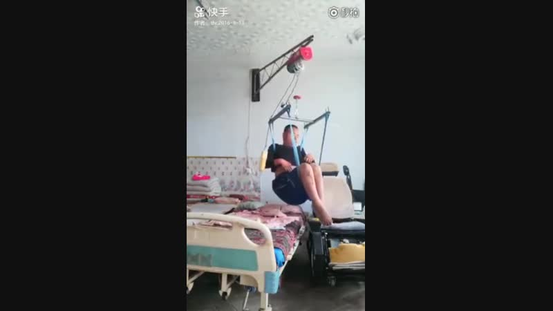 This little girl's routine of helping her paralysed father out of bed