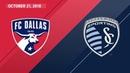 HIGHLIGHTS: FC Dallas vs. Sporting Kansas City   October 21, 2018