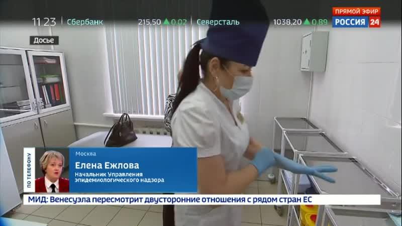 Елена Ежлова: процент превышения эпидпорога в России невысокий