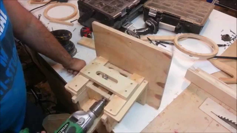 Homemade oscillating spindle sander drill powered