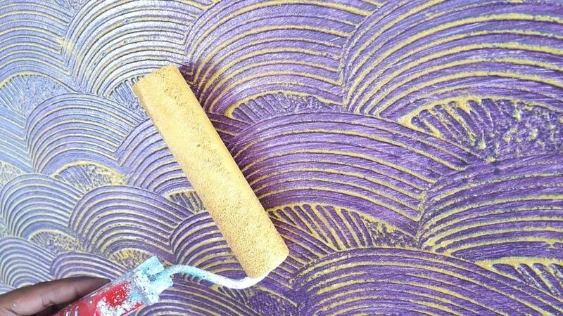 Interior wall texture design / Asian paints combing