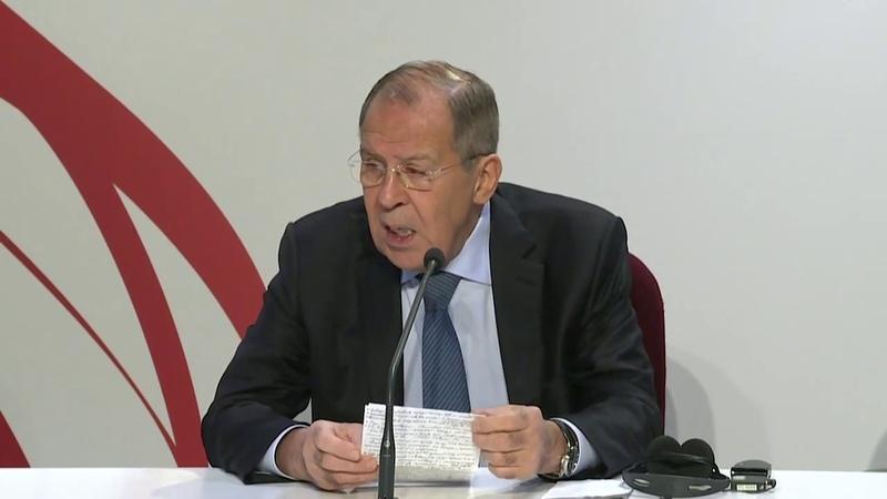 Пресс-конференция С.Лаврова по итогам заседания СМИД ОБСЕ, Милан