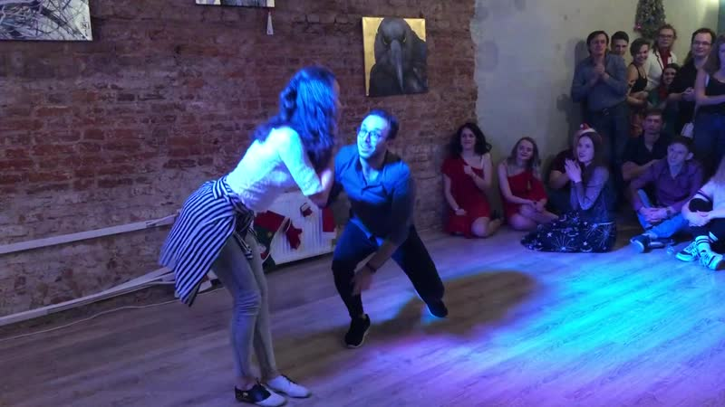 Bachata performance. Samokrutova Evgeniya Shuiskiy Iliya. New Year party 21.12.2018. Prokach Project