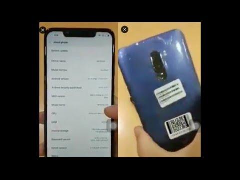 Xiaomi Beryllium POCOPHONE F1 hands on leaked