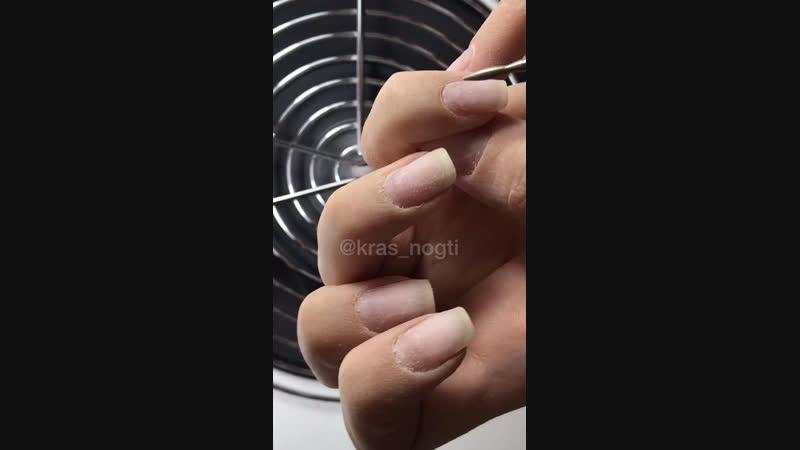 Снимаем нарощенные ногти и покрываем гель-лаком🐰 сургутманикюр маникюрсургут сургутногти krasnogti_surgut