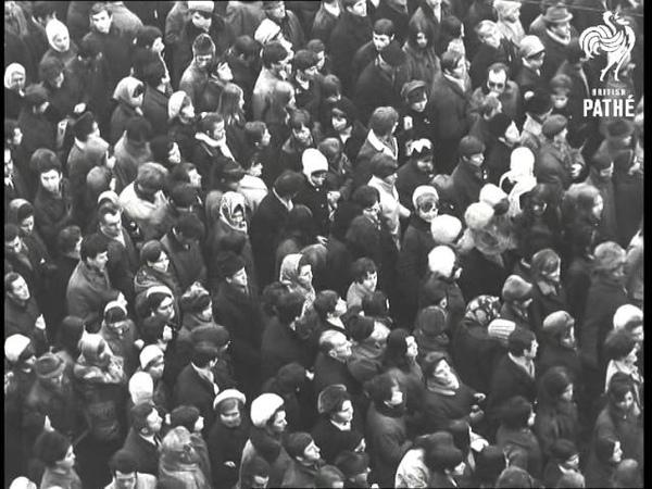 Jan Palach Funeral 1969 сюжет для киножурнала British Pathé