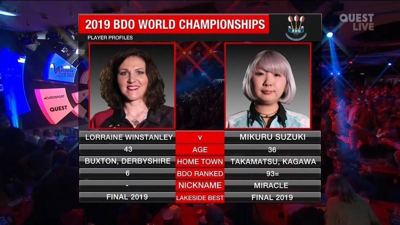 Winstanley v Suzuki FINAL 2019 World Championship Darts