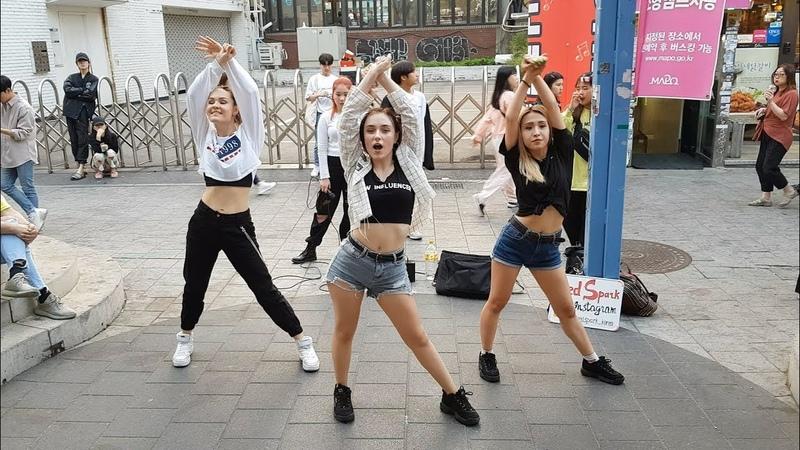 20190515 홍대버스킹 매일반가운 외국 미녀댄스팀 (0808) - RED SPARK _ Korea Team