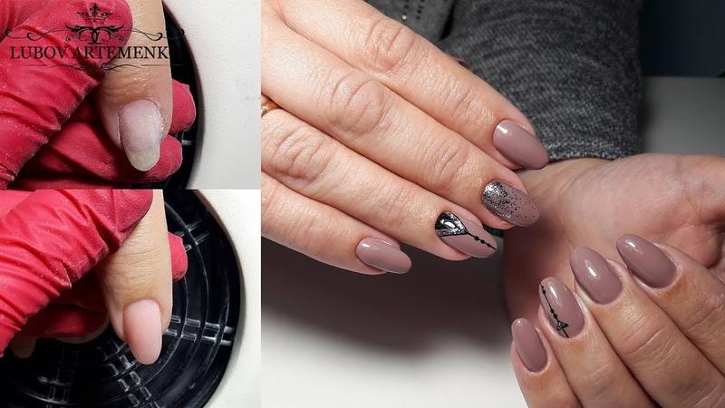 ГЕОМЕТРИЯ на ногтяхКак исправить в бок растущий ноготокКомбинированный маникюр