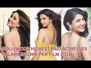 Top 10 Highest Paid Bollywood Salary Actresses 2018 | Income Per Film