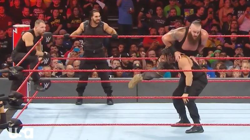 WWE RAW, October 08, 2018 The Shield vs Braun Strowman, Dolph Ziggler Drew McIntyre...