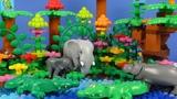 Строим из Lego Duplo, LEGO DUPLO Animals Of Africa, Savanna, Jungle - Вокруг света: Африка