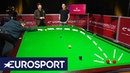 Ronnie O'Sullivan and Jimmy White: How to Hit a BANANA Shot | Welsh Open Snooker 2019 | Eurosport
