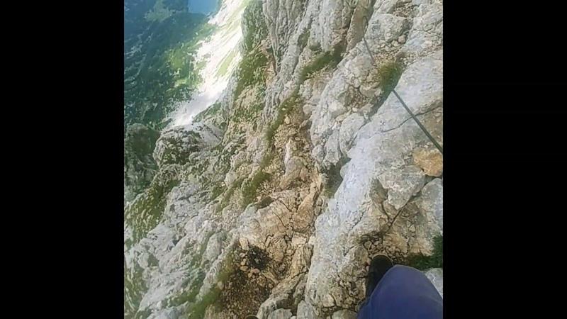 Спуск с боботов бук. bobotov kuk montenegro .Черногория. Crna gora