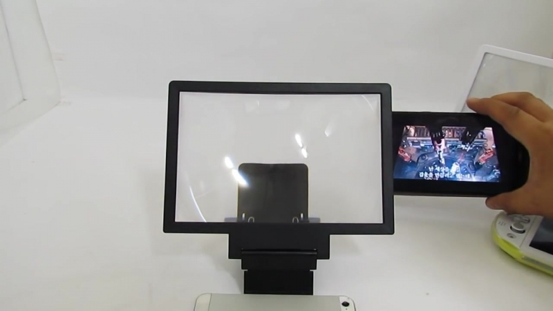 Enlarged screen