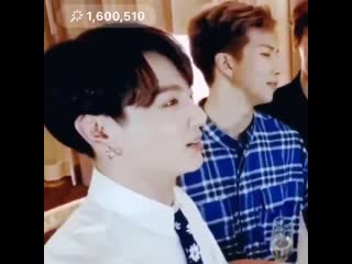 the look on joons face whilst listening to jungkook speaking english fluently,, he looks so proud